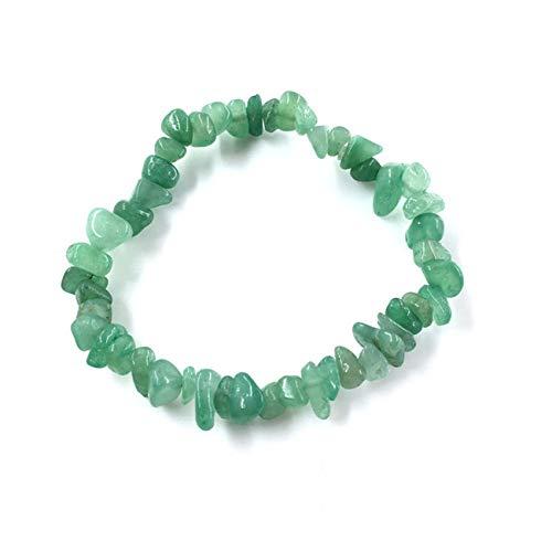 Pulseras Natural Gem Stone Bracelet Stretch Chip Beads Nuggets Garnet Crystal Coral Quartz Bracelets Bangles For Women Green Aventurine