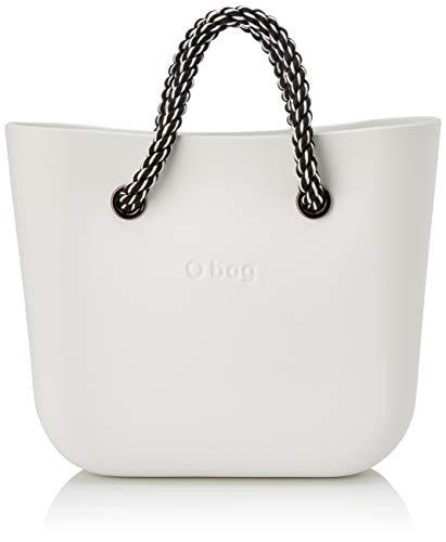 O bag Damen Borsa Obag Mini Clutch, Weiß (Latte), 34x12x28 Centimeters
