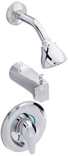 Chateau Single Handle PosiTemp Pressure Balanced Tub and Shower Trim with Eco-Performance Showerhead, Chrome - Moen T183EP