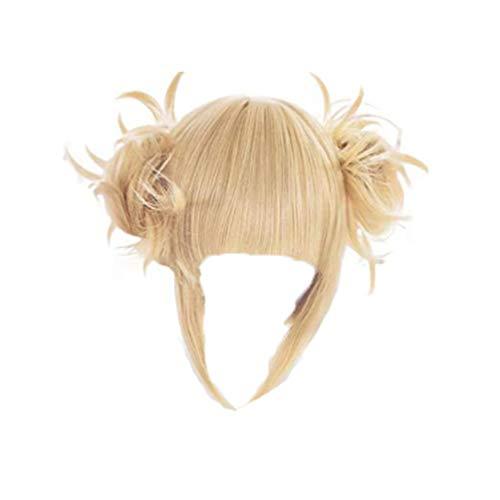 GZIRUE Himiko Toga Cosplay Blond Perücke Haar Anime My Hero Cosplay Kostüm Mein Held BNHA Wig