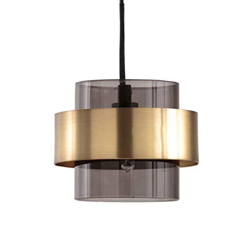 MTDSHD Creatieve Eenvoudige G9 hanglamp Vintage hanglamp creatieve rokerige grijze glas lampenkap hanglamp LED hanglamp voor woonkamer slaapkamer keuken Noord-Europa stijl nachtlampje 7W