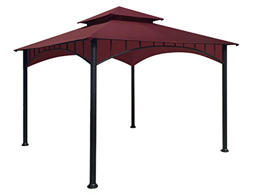 APEX GARDEN Replacement Canopy Top CAN ONLY FIT for Model #D-GZ136PST-N Summer Breeze Soft Top Gazebo (Canopy Top Only) (Burgundy)