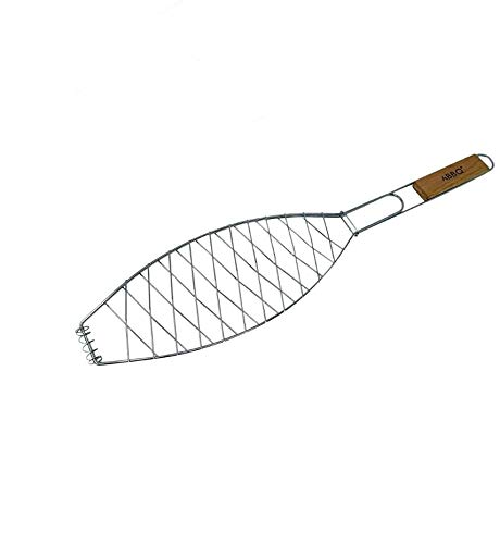 Wagtail Parrilla Pescado Barbacoa, Acero Inoxidable, Plata, 51x 12x 2cm.