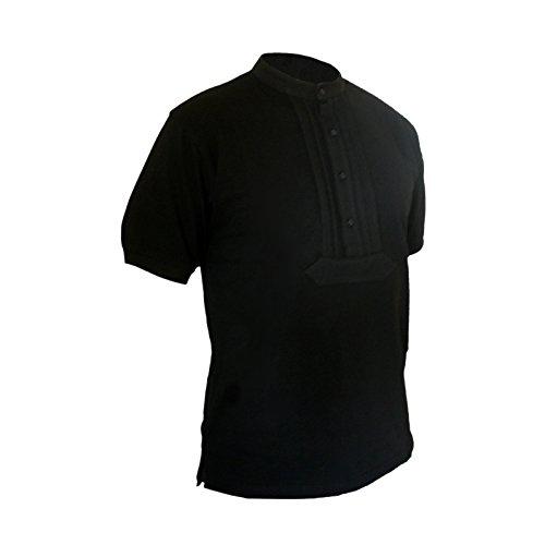 Eiko Zunft-Polo-Hemd, 100% Baumwolle, halbarm (S, schwarz)