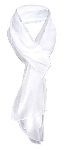 TigerTie - pañuelo de gasa - blanco nieve-blanco monocromo tamaño 160 cm...