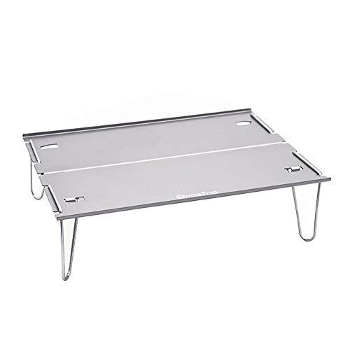Easy-topbuy Camping Klapptisch, Tragbarer Leichter Tisch Für Camping- / Wandertisch Mit Aluminium-Tischplatte, Minischreibtisch Für Trekking-Rucksacktouren Im Freien 29,8 X 21 X 8,4 cm