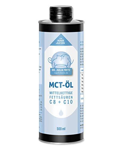 napfcheck Aceite MCT, ácidos grasos de Cadena Media C8 y C10, para Perros y Gatos, 500 ml