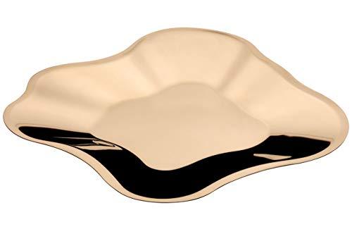 Iittala Aalto Coque, Acier Inoxydable, Or Rose, 18,2 x 18,2 x 5 cm