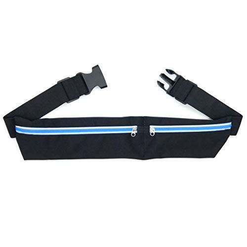 Yanhonin - Borsa Doppia con Tasca per Telefono e Cintura, Ideale per Viaggi di Sport Blu