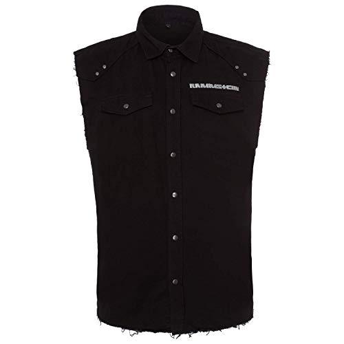Rammstein Herren Weste Stacheldraht, Offizielles Band Merchandise Fan Shirt schwarz (XXL)