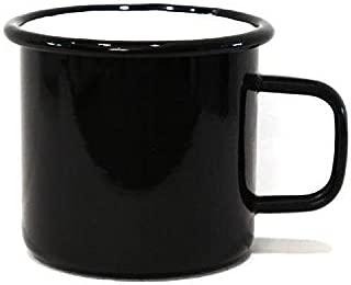 anaan Tang Taza esmaltada Negro Mug de café té Metal Vaso de Acero Inoxidable Diseño Moderno Camping Acampada Picnic Viajes Senderismo 450 ml