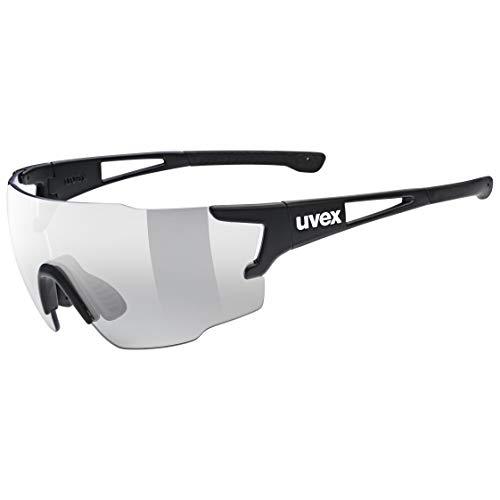 uvex Unisex– Erwachsene, sportstyle 804 V Sportbrille, selbsttönend, black mat/smoke, one size