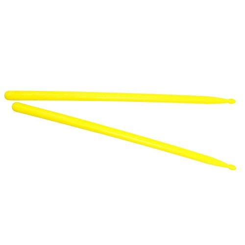 Drfeify 1 Paio di Bacchette, Set di Bacchette a Forma di Goccia in Nylon Resistente per Bacchette Accessori per Strumenti Musicali (Giallo)