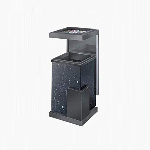 Hotel Lobby vuilnisemmer met asbak roestvrij staal marmer hotel lobby lift verticale open haard (kleur: roségoud) zwart