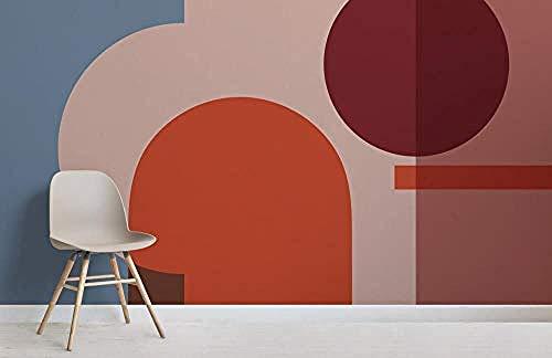 ZZXIAO Bunte geometrische Formen Modernes Bauhaus-Tapeten-Wandbild wandpapier fototapete 3d effekt tapete Wohnzimmer Schlafzimmer Hintergrundbild-250cm×170cm