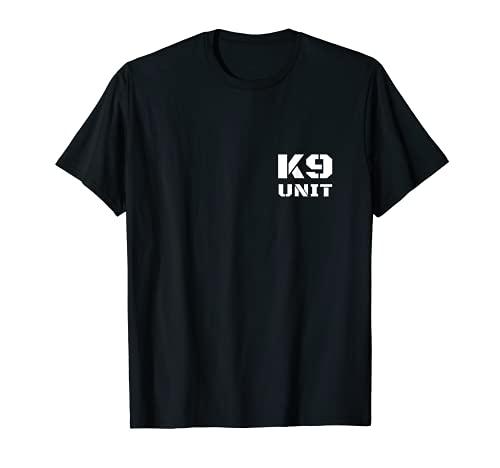 K9 Unit Stencil Text K-9 Team Officer Police Dog Handler T-Shirt