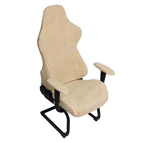 Computer Office Chair Cover,Universal Armchair Gaming Stuhlbezug Atmungsaktiver, Haltbarer, Waschbarer Stretch Protector Slipcover Armlehnenbezug Stuhlbezug Mit Hoher Rückenlehne (Kein Stuhl),3 Farben