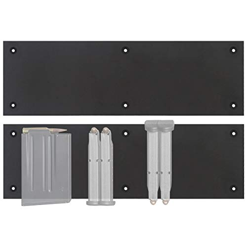 Mind and Action Magnetic Magazine Holder for Pistol Rifle,Ammo Storage Accessories for Your Gun Safe, Gun Cabinet,Locker,Mounting on Metal, Carpet Board, Wood, Plastic Surface(2 Pack)