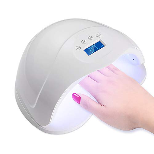 Nageltrockner 48W UV Lampe für Nägel LED Nagellampe Licht Gel Fingernägel Zehennagel Nagelmaschine ein für Shellac und Lichthärtungsgerät mit Zeitmesser Sensor 4 Timer Einstellung Lcd Display