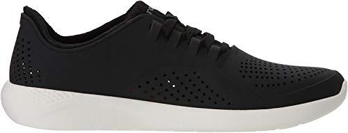 Crocs Men's LiteRide Pacer Sneaker, Black/White, 12 M US
