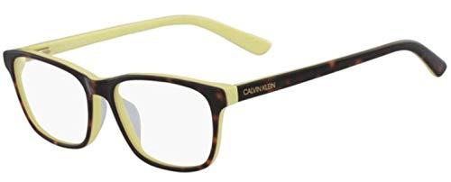 Calvin Klein CK18515 Acetate - Gafas de sol tortoise/amarillo unisex para adultos, multicolor, estándar