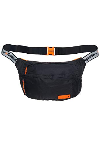Superdry Bauchtasche ZAC LARGE BUM BAG Black Black Reflective, Size:ONE SIZE