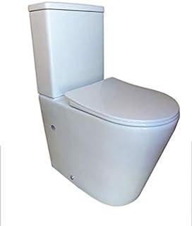 comprar comparacion Pack WC de Inodoro Round compacto adosado a la pared con salida dual y sistema rimless