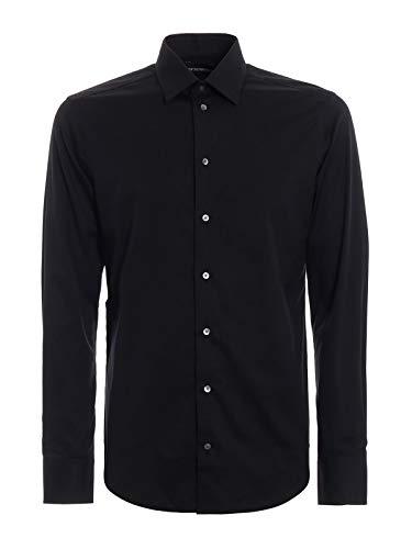 Emporio Armani Luxury Fashion Herren 11CS5L11C45999 Schwarz Baumwolle Hemd | Frühling Sommer 20