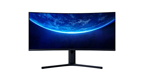 "Xiaomi Mi Curved Gaming Monitor 34"" (86,36cm) mit AMD FreeSyncPremium (WQHD 3.440 x 1.440, 21:9, 144Hz, 4ms, 300lm, 121{61284d87185768d38bcc265681cb4cc2eca07805855c6dfc9cca6e4d786eb5ac} sRGB, 2 HDMI, 2 Display Port, Audio Out, TÜV zertifizierte Blaulicht Reduktion)"