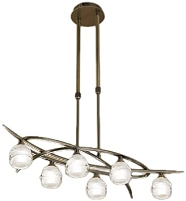 Liverpool Chrome And Copper Five Light Pendant - Spring Lighting ...