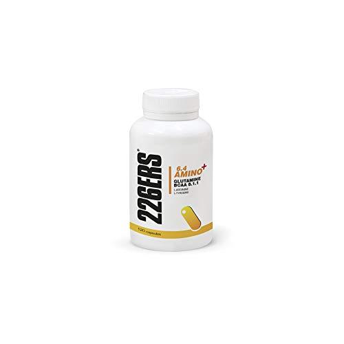 226ERS 6.4 Amino+ | Aminoácidos - Glutamina + BCAA + L-Arginina + L-Tirosina, Sin Gluten - 120 cápsulas