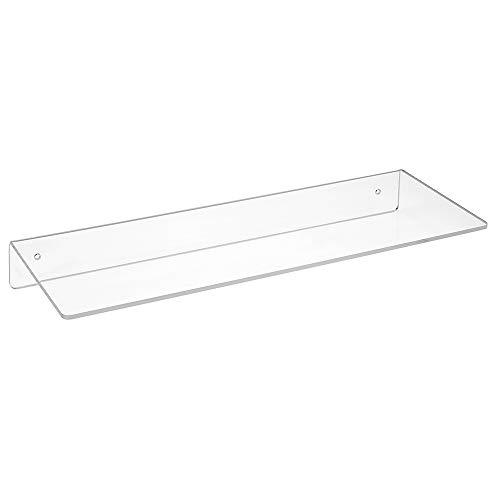 Wandregal 400mm Breit, 150mmTief, aus Acrylgas - Zeigis® / Acrylregal/Wandboard/Wandkonsole/transparent/durchsichtig/Warenpräsentation/klar