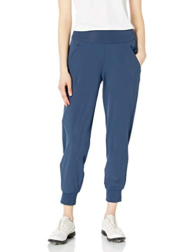 adidas Golf Women's Stretch Woven Jogger Pants, Crew Navy, Small