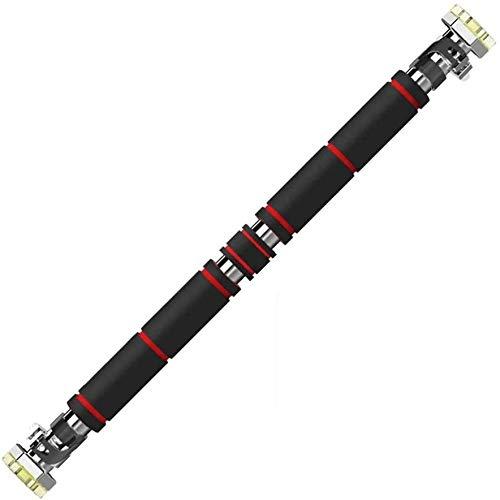 Horizontal bar Türrahmen Lever Tür Reck Fitnessausrüstung Haus Pull-up Startseite Doppel Pole Innenwand Freie Punch (Farbe: Schwarz, Größe: 83 ~ 130cm), Größe: 83 ~ 130 cm, Farbe: Schwarz Fitness nach