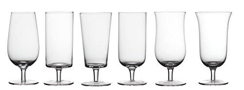 BITOSSI Diseguale Set 6 Bicchieri Birra, 7 cm