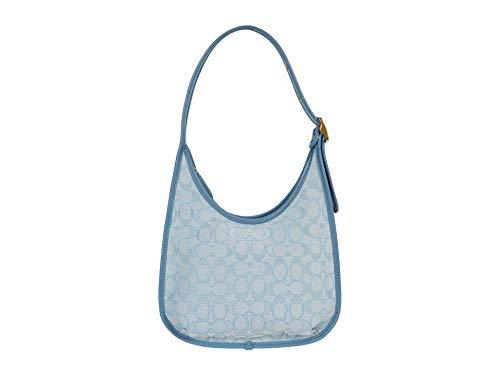 COACH The Coach Originals Signature Jacquard Coach Ergo Shoulder Bag B4/Marble Blue Azure One Size -  C2588 B4SBX