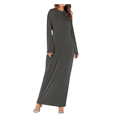 MERICAL Moda Vestido de Mujer Maxi musulmán Manga Larga Abaya Kaftan Batas Ropa Elegante y Noble