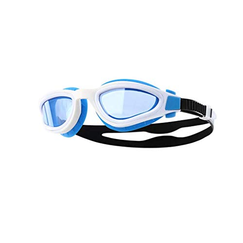 Wzmdd Zwembril, waterdicht en beslaat niet, HD, vlak, licht, duikbril, verstelbaar, zwembril, riem van siliconen