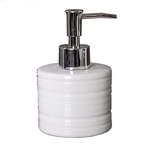 Dispensadores de jabón de cerámica para encimera de baño Blanco, Bomba de jabón, Accesorios de baño 240ml, para Contener champú, acondicionador, Gel de Ducha, etc.