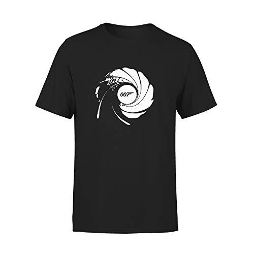 T-Shirt 007 Barrel Inspired by James Bond Gr. L, Schwarz