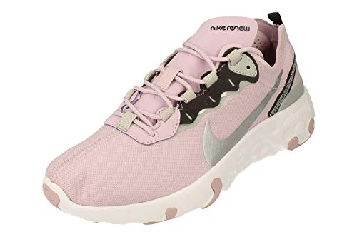 Nike Renew Element 55 GS Running Trainers CK4081 Sneakers Zapatos (UK 6 US 6.5Y EU 39, Iced Lilac Metallic Silver 500)