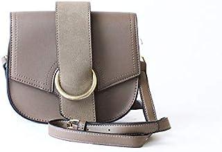 لينز حقيبة طويلة تمر بالجسم نسائية ، جلد صناعي - رمادي داكن