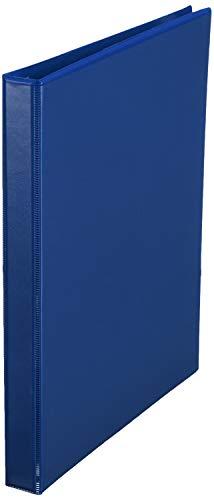 Amazon Basics 1/2 Inch, 3 Ring Binder, Round Ring, Customizable View Binder, Blue, 12-Pack