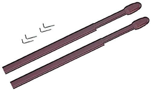 TRINGLES OVALES pour VITRAGE | 10x5 | 4 Supports Adhésifs Plastique | Marron