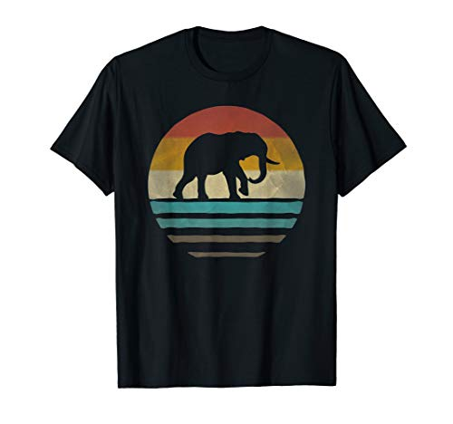 Elephant Shirt Retro Vintage 70s Boho Distressed Women Men