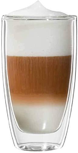 bloomix Roma Latte Macchiato 300 ml, doppelwandige Thermo-Kaffeegläser im 2er-Set