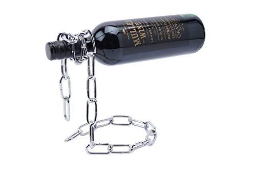 GB04817 GB04817 - Soporte flotante para botellas de vino con cadena de metal para regalo