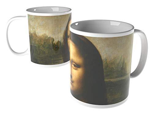 Leonardo da Vinci - Mona Lisa (La Gioconda) - ca. 1503-8x9.7 cm - Tasse - Kunst, Gemälde, Foto, Tasse mit Bild - Alte Meister/Museum