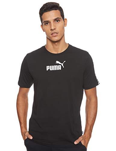 PUMA Herren T-Shirt Amplified Tee, Black, L, 581384