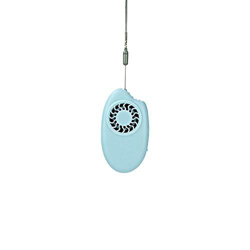 Dicomi El Ventilador de aromaterapia sin Hojas del Mango, Mini Ventilador de Mano Recargable USB, Puede Agregar un Ventilador de aromaterapia(Bleu)